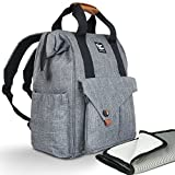 Baby Diaper Bag Backpack - Multi-Function - 4 Large Insulated Pockets For Bottles - Stroller Straps & Tote Design - Spacious Organizer & Laptop Pocket - Waterproof Linen - Cute For Women Manly For Men