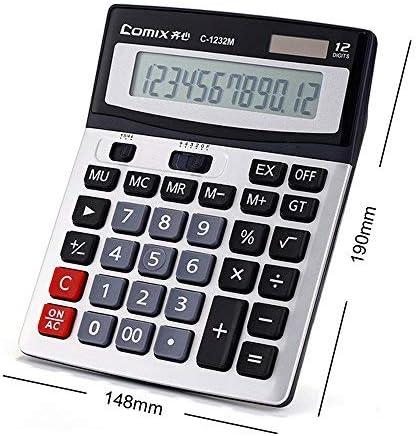Kkmoon Comix c-1232/m standard funzione calcolatrice da tavolo 12/cifre solare e batteria Dual Power per scuola ufficio casa