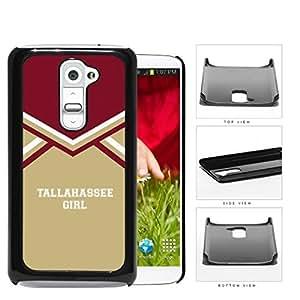Tallahassee City Girl School Spirit Cheerleading Uniform LG G2 Hard Snap on Plastic Cell Phone Cover