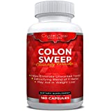 Colon Cleanse Detox Pills for Weight Loss and Increased Energy, 180 Veggie Capsules (180)