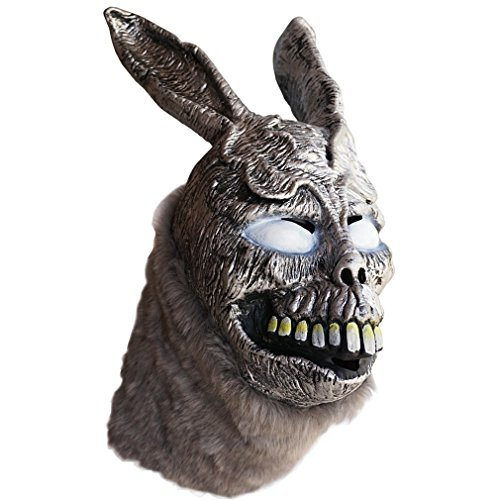 New Halloween Donnie Darko Frank the Bunny Mask Latex Overhead with Fur Scary Animel Rabbit (Frank Donnie Darko Costume)