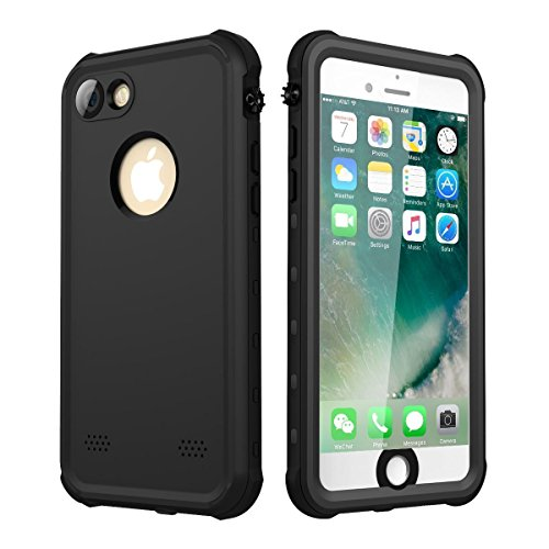 iPhone 7 iPhone 8 Case Waterproof 4.7, iThrough Underwater Case for iPhone 7/iPhone 8, Dust Snow Shock Proof, Heavy Duty Protective Carrying Slim Case Cover for iPhone 7/iPhone 8 (Black)
