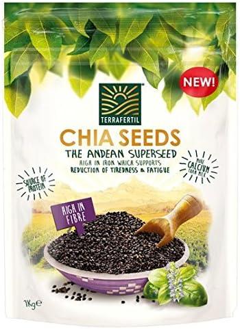 Terrafertil Chia Semillas 1kg: Amazon.es: Alimentación y bebidas