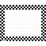 Retail Price Sign Sign Cards White Cards With Black Checkerboard Border - 5 1/2 L x 7'' H 100 Per Pack