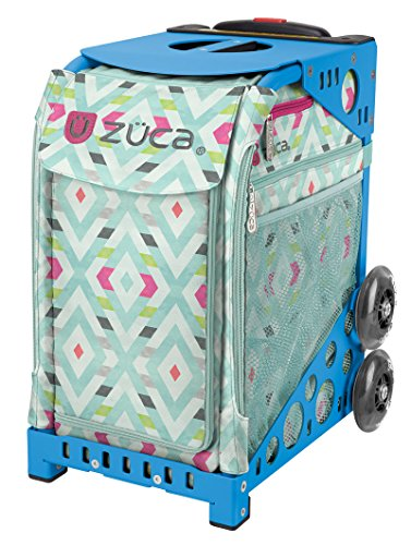 ZUCA Bag Chevron Insert & Blue Frame w/Flashing Wheels