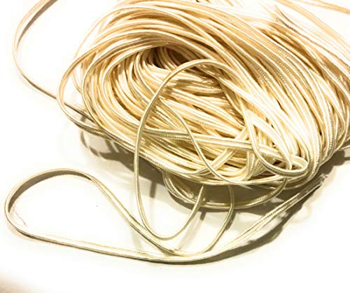 - 2mm Off White Soutache Rayon Braided Cord Beading, Sewing,Quilting Trimming String 10 Yards