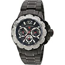 Swiss Legend Men's 'Ultrasonic' Quartz Stainless Steel Watch, Color:Black (Model: 14097SM-BB-11-SB)