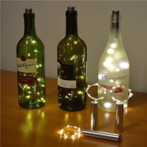 Forma del corcho de la botella luces OurLeeme Luz de Navidad energía de la batería LED