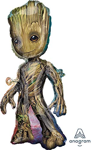 Baby Groot Guardians of The Galaxy 40'' Mylar Balloon Birthday Party Decorations Supplies (Groot Birthday Party Supplies)