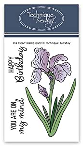 Iris Clear Stamps   Flowers Rubber Stamps   Photopolymer Stamps   Card Making Supplies