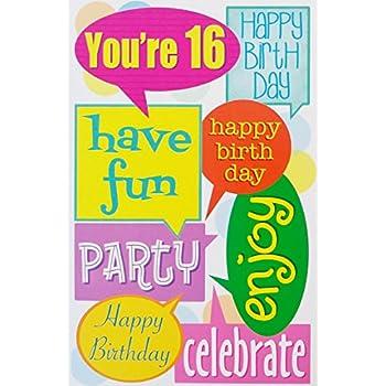 Amazon A 16th Birthday Greeting Card Sixteen 16 Years Old