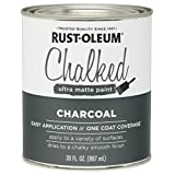 285144 Rust-Oleum Ultra Matte Interior Chalked Paint 30 oz, Charcoal