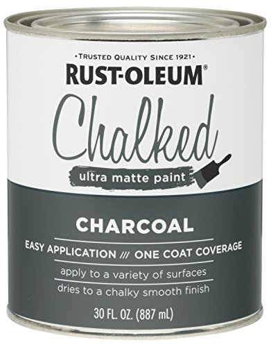 (Rust-Oleum 285144 Ultra Matte Interior Chalked Paint 30 oz, Charcoal)