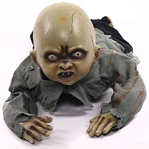eyesonme Halloween Crawling Baby Zombie Prop Animated Haunted House Party Decor -