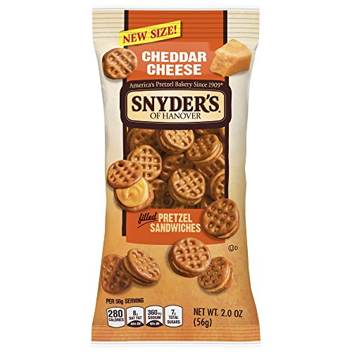 - Snyder's of Hanover Pretzel Sandwiches, Cheddar Cheese, 2 Ounce, 6 Count (Pack of 9)