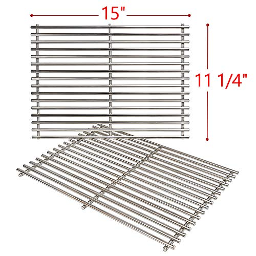 SHINESTAR Stainless Steel Grill Grates for Weber Spirit 200 Series, Spirit 500 / Genesis Silver A, 15