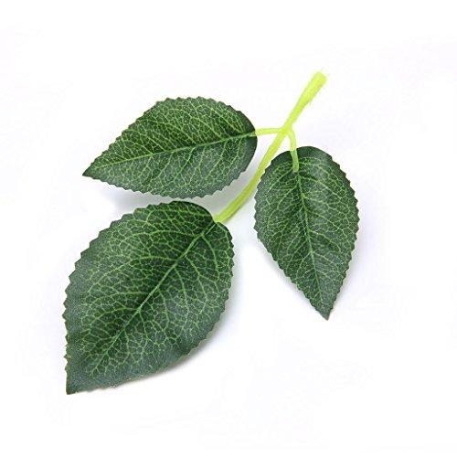 Tebatu Home Decoration Craft,Artificial Silk Rose Leaf Leaves for Wedding Decoration DIY Scrapbooking