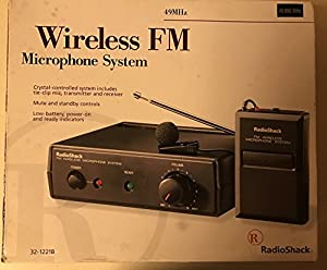 radio shack wireless fm microphone system musical instruments