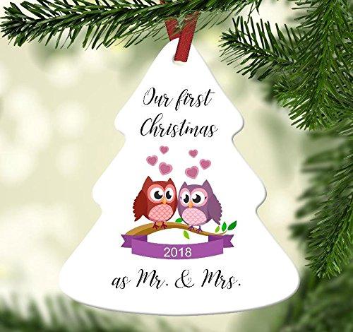 Amazon.com: Our First Christmas as Mr. and Mrs. Christmas Tree ...
