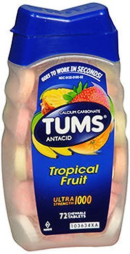 Tums Ultra, Assorted Tropical Fruit, 72 Chewable Tablets ()