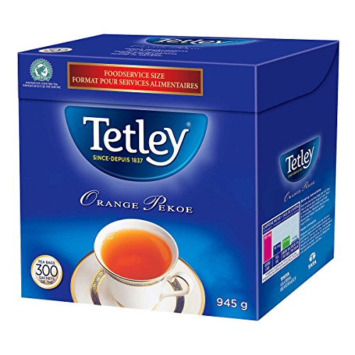 Tetley Tea, Orange Pekoe, Food Service Size 300Count 945g Tea Bags