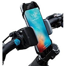 Widras Prime Bike and Motorcycle Cell Phone Mount - For iPhone 6 ,5, 6s Plus, Samsung Galaxy Note or any Smartphone & GPS - Universal Mountain & Road Bicycle Handlebar Cradle Holder for Pokemon Go