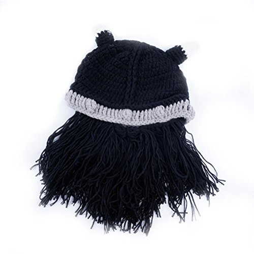 Punto Unisex Beanie Sombreros Gorras Gorras Invierno Gorros Bearded Vagabond Halloween Nero Gracioso De qwpgfXX