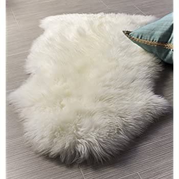 super area rugs genuine australian sheepskin rug one pelt ivory natural fur single