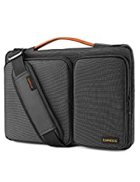 """Tomtoc Original 14 Inch Laptop Shoulder Bag with CornerArmor Patent, 360° Protective Laptop Sleeve for 14 Inch Lenovo ThinkPad   Acer HP Chromebook   15"""" MacBook Pro Touch Bar 2017 (A1707), Black"""