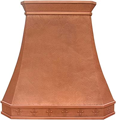 Luxury Copper Range Hood with Decorative Crown Comes with Professional Vent Sinda HAHAPE