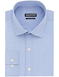 Kenneth Cole Unlisted Men's Slim Fit Check Spread Collar...