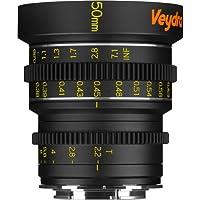 Veydra V1-50T22SONYEM Mini Prime 50mm T2.2 Sony E Metric Cinema Lens with Manual Focus, Black