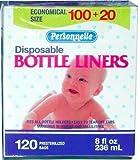 Personnelle Disposable Pre-sterilized Bottle Liners, 8 Oz - 120 Count