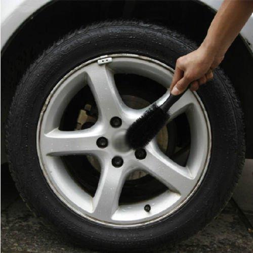 Yosoo Portable Loop Style Spoke Auto Car Vehicle Motorcycle Wheel Tire Rim Hub Scrub Wash Brush Washing Cleaning Tool Cleaner Kit (Car Rim Scrub Brush compare prices)