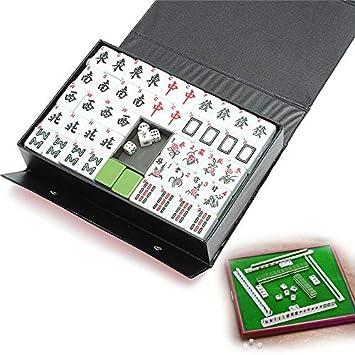JIANGQIAO Entretenimiento diversión de la Familia Juegos de Mesa Gfits Top 144 Azulejos portátil Mahjong Chino Raro Determinado del Juego Retro Mahjong Juegos de Mesa: Amazon.es: Juguetes y juegos