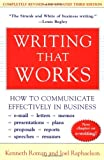 Writing That Works; How to Communicate Effectively In Business, Kenneth Roman, Joel Raphaelson, 0060956437