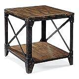Magnussen T1755 Pinebrook Distressed Natural Pine Wood Rectangular End Table