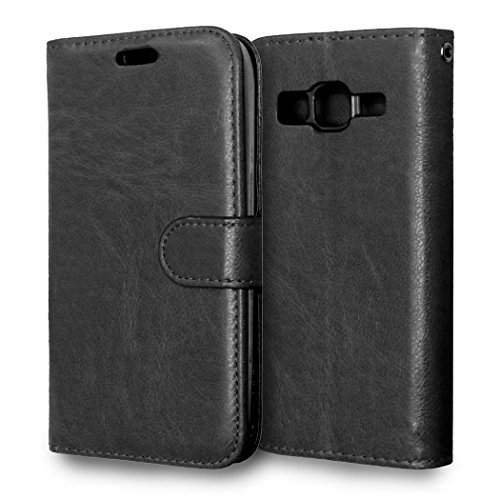 G360 Case, Galaxy Core Prime Case, GNT(TM)Luxury PU Leather Wallet Case [Wallet Function] [Photo Frame Function] Flip Case for Samsung Galaxy Core Prime G360 / Prevail LTE Case(Black), +Stylus Pen