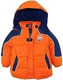 iXtreme Little Boys' Rip Stop Active Color Block Puffer Winter Jacket, Orange, 2T