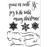 Sizzix Christmas Collection Clear Acrylic Stamps Seasonal Calligraphy (12 Pack)