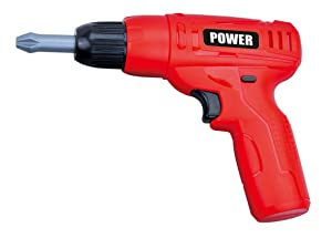 PowerTRC Kids Power Tools Mini Toy Drill Set with 3 Interchangeable Drill Bits Sound and Motion