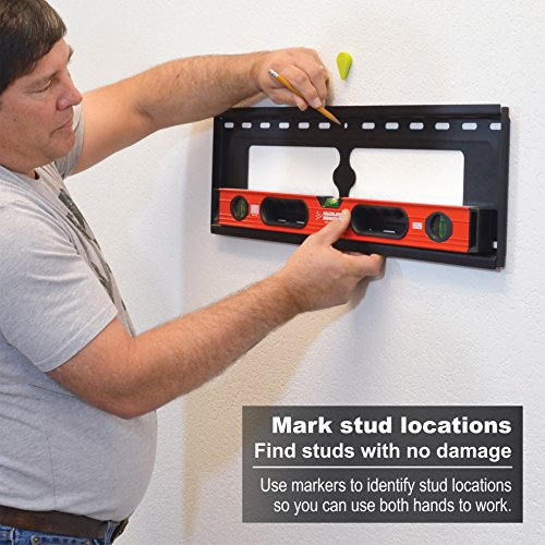 Calculated Industries 7310 StudMark Magnetic Stud Finder with 2 Removable Magnet Markers | Finds & Marks up to 3 Stud Locations | Powerful Rare Earth Magnets, No Batteries Needed by Calculated Industries (Image #7)