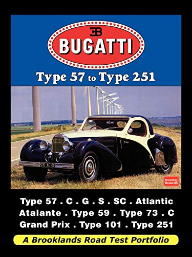 Bugatti - Type 57 to Type 251 Road Test Portfolio