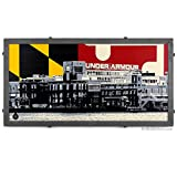 Under Armour Warehouse Framed Silkscreen Print with Maryland Flag