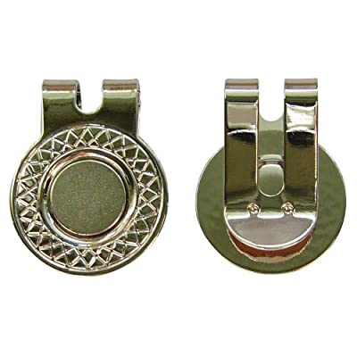 BUSHMANCRAFT 2 Magnetic Hat Clips for Metal Golf Ball Markers (Type #1), Silver
