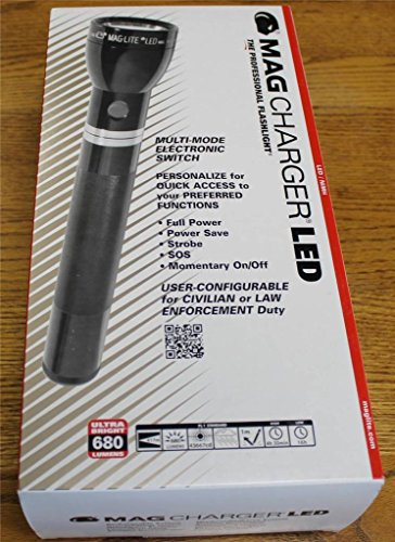 NEW MagLite Lite RL1019 Mag Charger LED Flashlight -- AC & DC Rechargeable NiMH