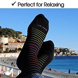 Cotton Compression Socks for Women. Graduated Stockings for Nursing, Maternity, Travel, Flight, Pregnancy, Varicose Veins, Calf Support. 15-20 mmHg Medical Circulation Hose. Knee High 1 Pair (M/L)