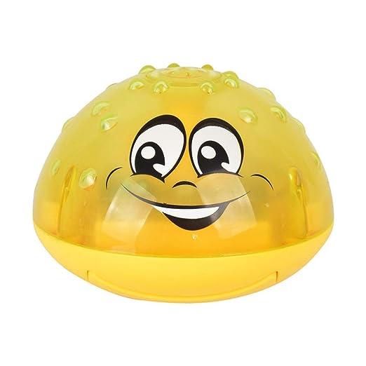 Bathroom Kids Water Bath Play Toy Wasser Spray Ball Wasser Sprinkler Spielzeug Mit Licht F/ür Kinder Baby,Pool Spielzeug Badespielzeug,Electric Induction Spray Ball Light Percetey Sprinkler Ball
