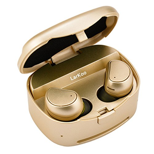 LarKoo Mini Wireless Double Twins In-ear Earbuds Headphones with Charging Box Noise...