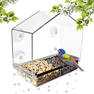 GrayBunny Window Bird Feeders